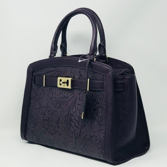 363240bc61d3 Michael Kors Bags | Karson Large Satchel Nwt Purple | Poshmark
